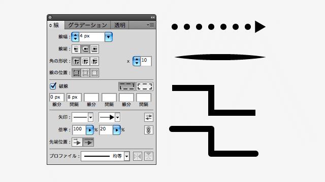 線の設定例