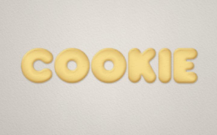クッキーのレイヤースタイル